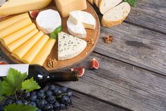 Different kind of cheese Stock Photography