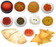 Different kind of chips and dips Royalty Free Stock Image