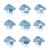 Cloud service icon set Royalty Free Stock Photography