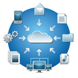 Cloud service network Stock Photos