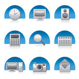 Computer applications icon set Royalty Free Stock Photo
