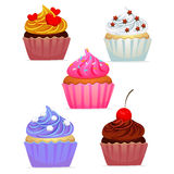 Different Kind of Cupcakes Stock Photos