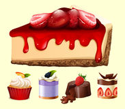 Different kind of desserts Royalty Free Stock Images