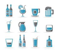 Different kind of drink icons Stock Images