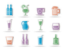 Different kind of drink icons Royalty Free Stock Photo