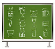Different kind of drink icons Stock Photo