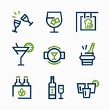 Different kind of drink icons  vector icon set Royalty Free Stock Photos