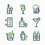 Different kind of drink icons  vector icon set Royalty Free Stock Photo
