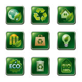 Eco and bio icon set Stock Image