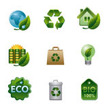 Eco and bio icon set Royalty Free Stock Image
