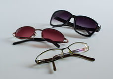 Different kind of eyeglasses Royalty Free Stock Photos