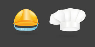 Different kind of fashion cook hat modern elegance cap accessories clothes vector illustration Stock Photo