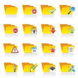 Different kind of folder icons Royalty Free Stock Images