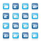 Different kind of folder icons Royalty Free Stock Photo