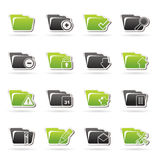 Different kind of folder icons Royalty Free Stock Image