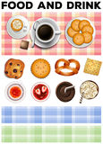 Different kind of food and drinks Royalty Free Stock Photography