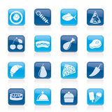 Different kind of food icons Royalty Free Stock Photos