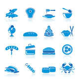Different kind of food icons. Vector icon set Royalty Free Stock Photo