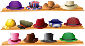 Different kind of hats. Illustration vector illustration