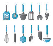 Different kind of kitchen accessories icons Stock Image