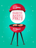 Different kind of meat on the grill illustration. Picnic or Bbq party. Food and barbeque, summer and grill. Vector barbeque party, illustration barbeque party vector illustration