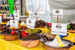 Different kind of mexican traditional ingredients `mole` royalty free stock images
