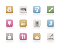 Different Kind Of Art Icons Royalty Free Stock Photo