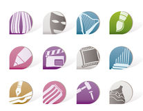 Different Kind Of Art Icons Stock Photography
