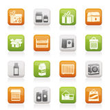 Different kind of package icons Royalty Free Stock Photo