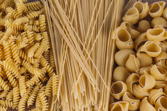 Different kind of pasta Stock Image
