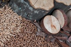 Different kind of pellets Stock Photo