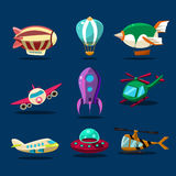 Different kind of planes. Illustration of different kind of planes vector set Stock Photo