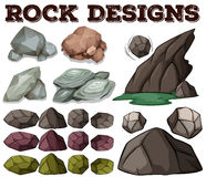 Different kind of rock designs Stock Photography