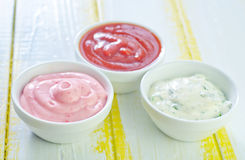 Different kind of sauces Stock Photo