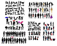 Different kind of silhouettes. Illustration of different kind of silhouettes Stock Image