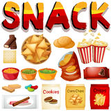 Different kind of snack Stock Images