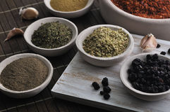 Different kind of spices Stock Photos