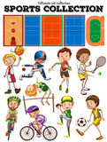 Different kind of sports and courts Royalty Free Stock Photo