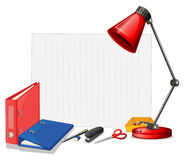 Different kind of stationaries Royalty Free Stock Photo