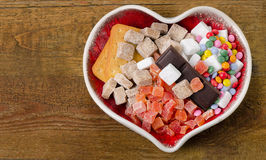 Different kind of sugar, candies and cookies Stock Photo