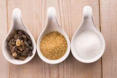 Different kind of sugar Stock Photo
