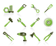 Different kind of tools icons Stock Image
