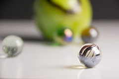 Different kind of toy marbles Royalty Free Stock Images