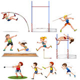 Different kind of track and field sports Royalty Free Stock Photo