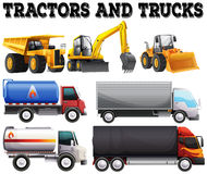 Different kind of tractors and trucks Royalty Free Stock Photo