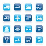 Different kind of transportation icons Royalty Free Stock Images