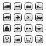 Different kind of transportation icons Royalty Free Stock Photography