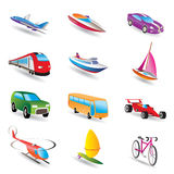 Different kind of transportation and travel icons. Icon set Royalty Free Stock Photos