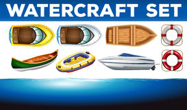 Different kind of watercrafts Royalty Free Stock Image