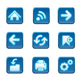 Web navigation buttons set Stock Photos